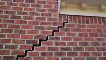 stair-step cracks in outside walls