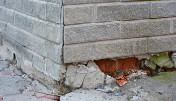 Foundation Cracks due to poor soil compaction