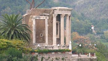Temple of Vesta in Tivoli, Italy