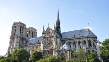 Structure of Notre Dame, Paris