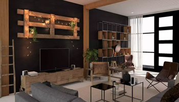 Example of renovating a room with wooden furniture