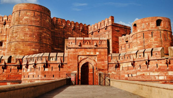 Front view of Agra Fort